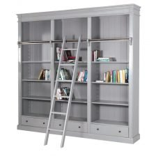 RIVIERA BOOKCASE WITH LADDER