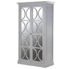 Riviera Mirrored Wardrobe Grey