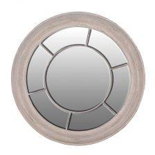 washed round mirror