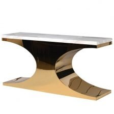 chelsea white and gold console