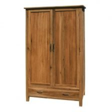 harlem oak double wardrobe