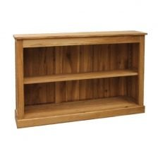 harlem oak low bookcase