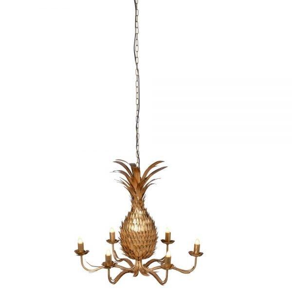 Golden Pineapple Chandelier 1