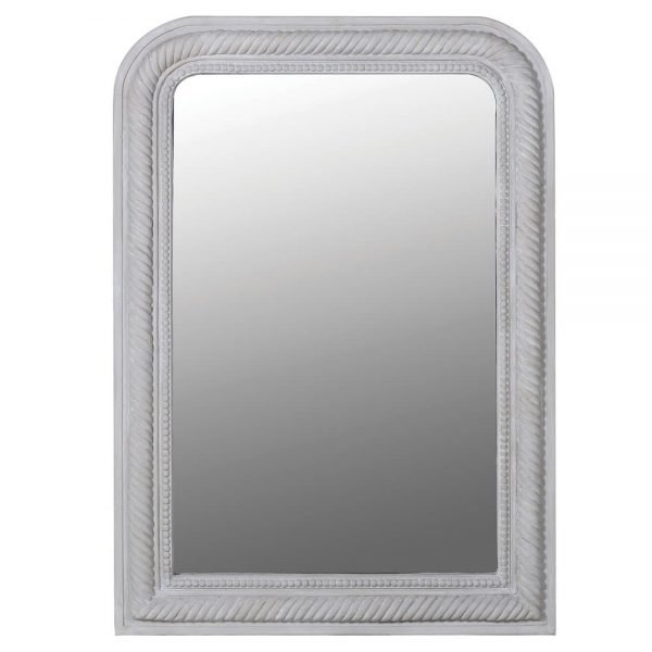 Curved Rope Mirror Grey