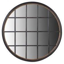 Circular Grid Window Mirror