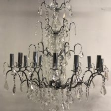 TWELVE ARM CHROME CHANDELIER