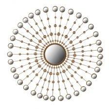gold sunburst round mirror