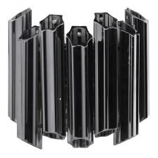 SMOKED FLUTED TUBULAR WALL LIGHT