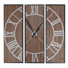 3 Piece Wood Plaque Clock