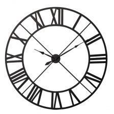 Black Metal Outline Clock