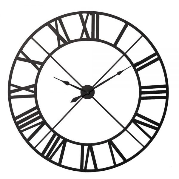 Black Metal Outline Clock