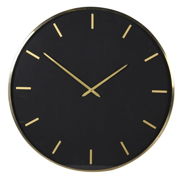Contemporary Black and Gold Wall Clock