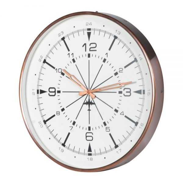 Clock in Antique Copper Finish