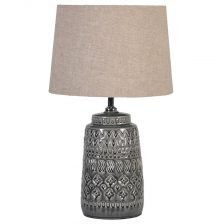 Dark Grey Ceramic Lamp