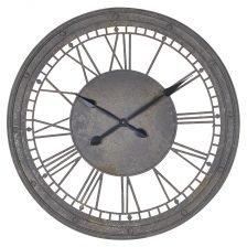 Metal Numerals Wall Clock