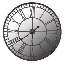 Mirrored Iron Wall Clock