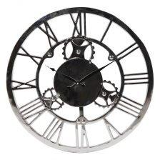 Nickel Finish Wall Clock