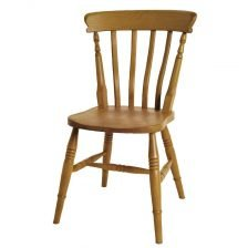 high back slat chair