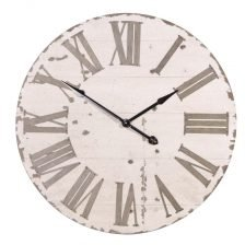 Large Round Cream Clock