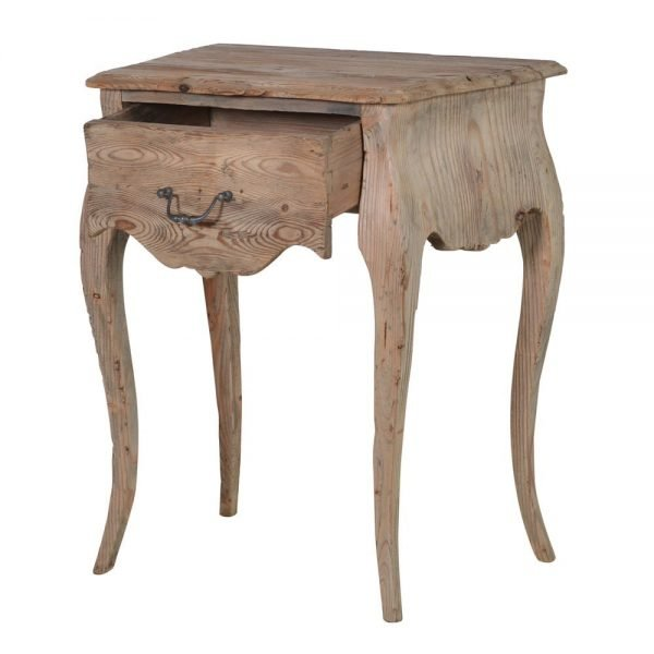 reclaimed pine sidetable a