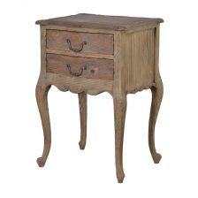 TWO DRAWER RECLAIMED SIDETABLE