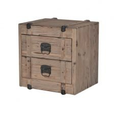 TWO DRAWER TRUNK BEDSIDE