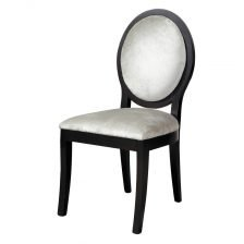 BLACK OVAL BACK CHAIR