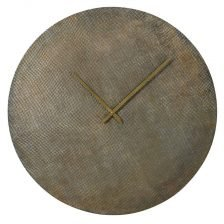 Brass Textured Round Clock