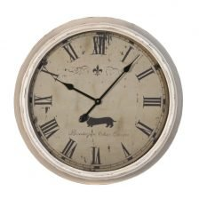 chic chien wall clock