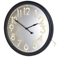 Lit Metal Wall Clock