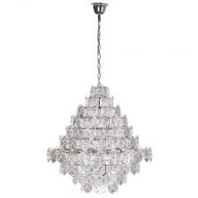 multi layer glass chandelier