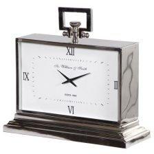 Nickel Art Deco Style Clock
