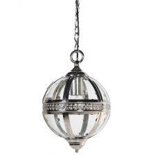 nickel and glass ball pendant