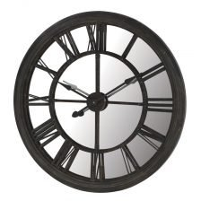 Round Mirror Back Clock