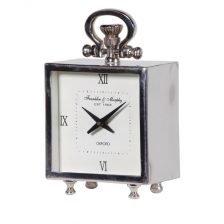 Square Steel Mantel Clock