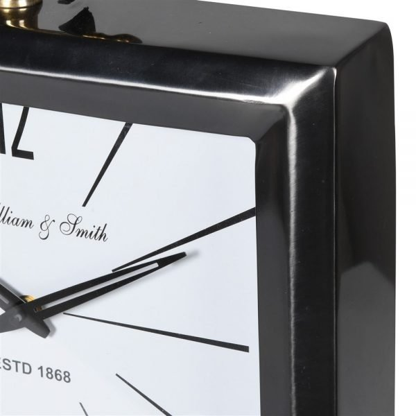 Steel Clock with Leather Handle 1