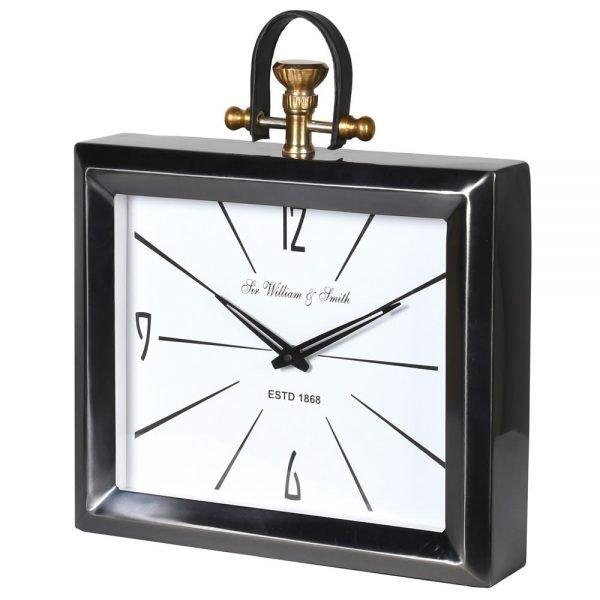 ALUMINIUM MANTEL CLOCK