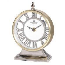 Two Tone Round Mantel Clock