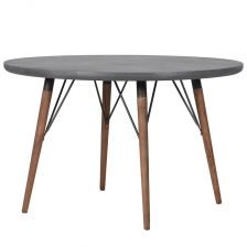 GREY ROUND CONTEMPORARY TABLE