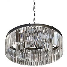 large circular crystal chandelier