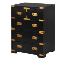 BLACK AND GOLD MILITARY BEDSIDE