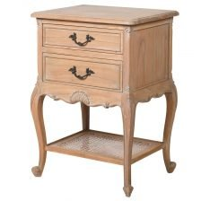 TWO DRAWER CABRIOLE BEDSIDE