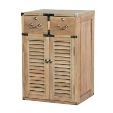 WEATHERED OAK MILITARY CHEST