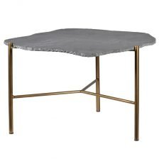 Coffee Table with Grey Stone Top
