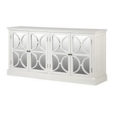 WHITE FOUR DOOR MIRRORED SIDEBOARD