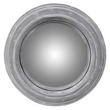 Small Distressed Round Mirror
