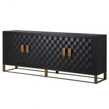 BLACK OAK TEXTURED SIDEBOARD
