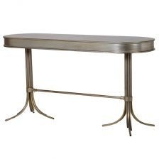 distressed oval console