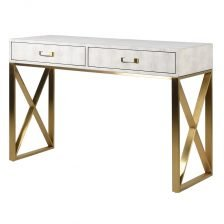 FAUX IVORY SHAGREEN HALL TABLE
