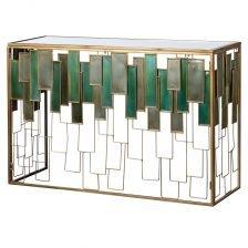 GLASS PANEL HALL TABLE